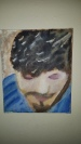 Not for sale, example of my work. This is a painting of my husband :)